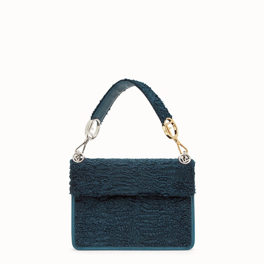 FENDI KAN I F - Blue velvet bag - view 3 detail