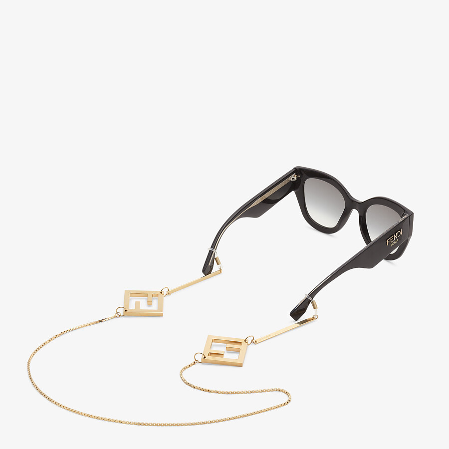 FENDI GLASSES CHAIN - Gold-color necklace - view 2 detail