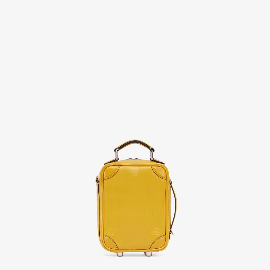 FENDI TRAVEL MINI BAG - Yellow leather bag - view 3 detail