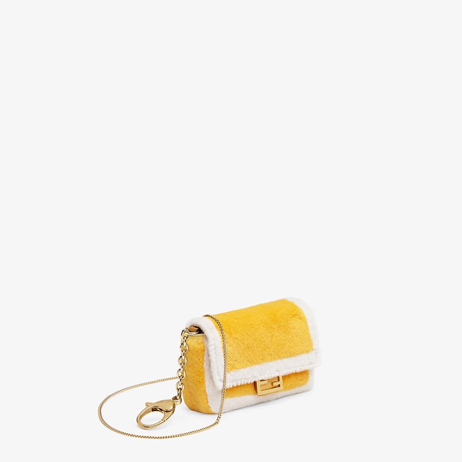 FENDI NANO BAGUETTE CHARM - Yellow mink charm - view 2 detail