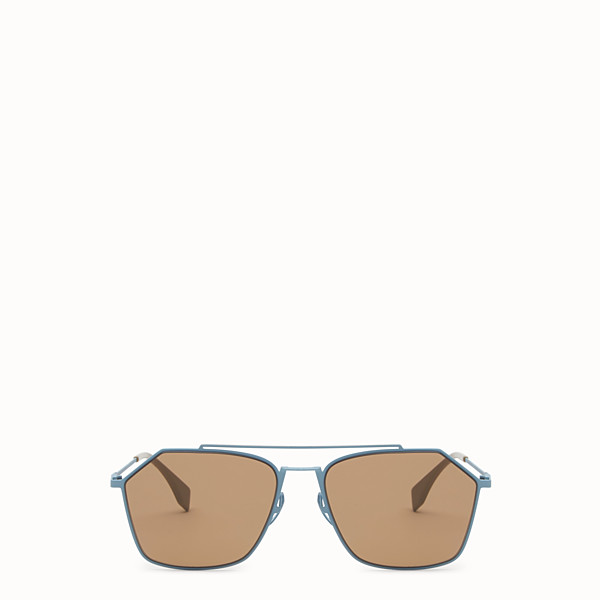 FENDI EYELINE - Light blue Asian fit sunglasses - view 1 small thumbnail