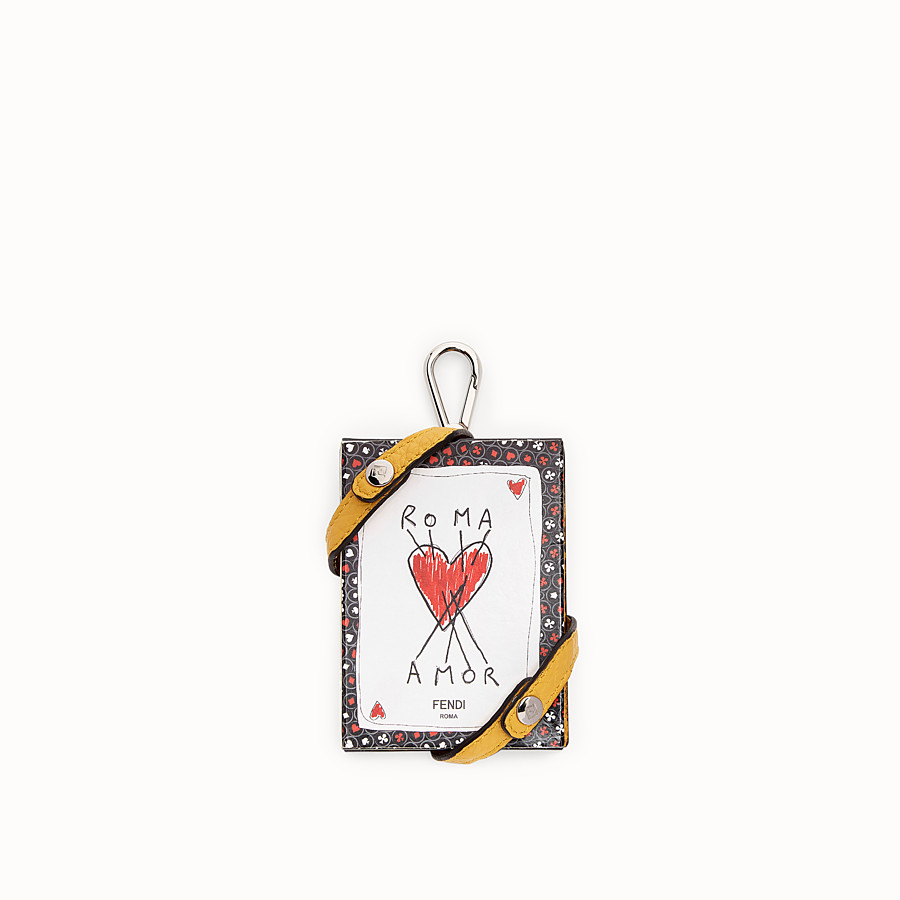 FENDI KEY RING - Yellow leather charm - view 1 detail