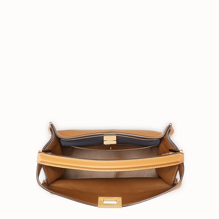 FENDI PEEKABOO X-LITE MEDIUM - Brown leather bag - view 6 detail