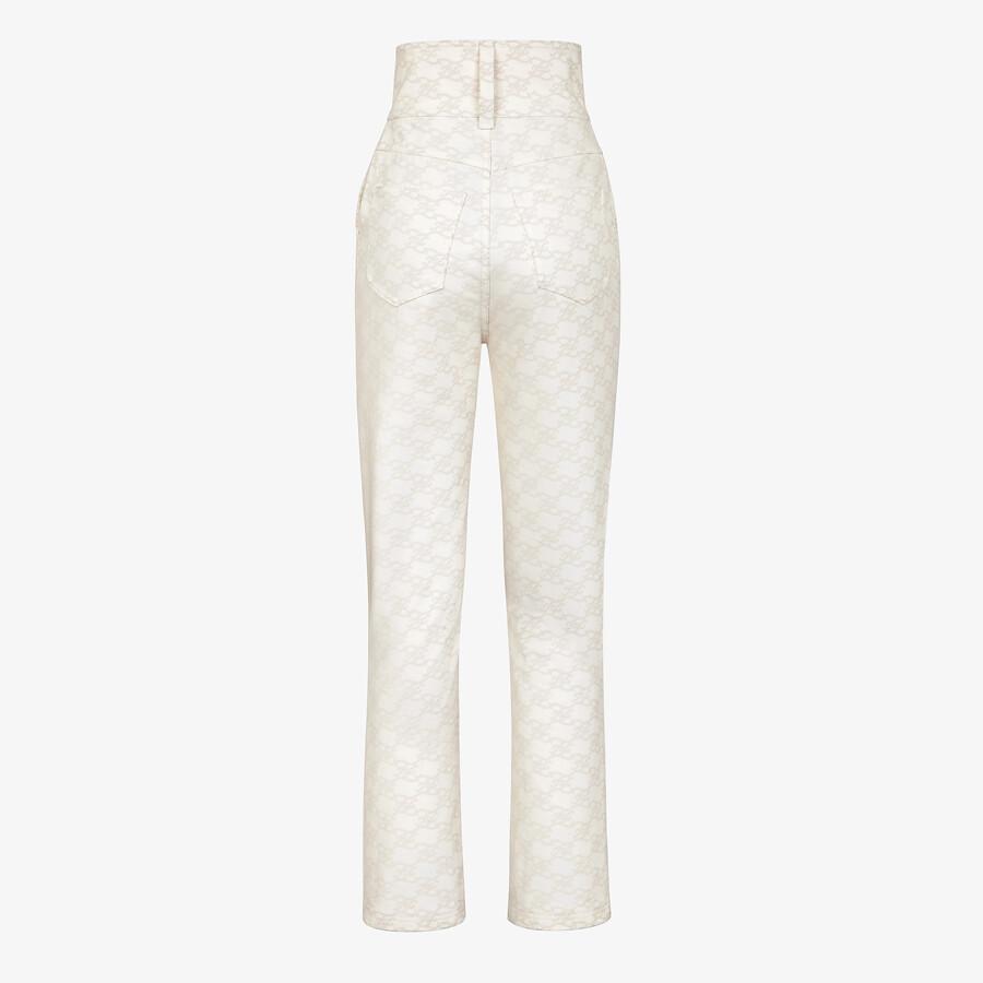 FENDI PANTS - White denim pants - view 2 detail