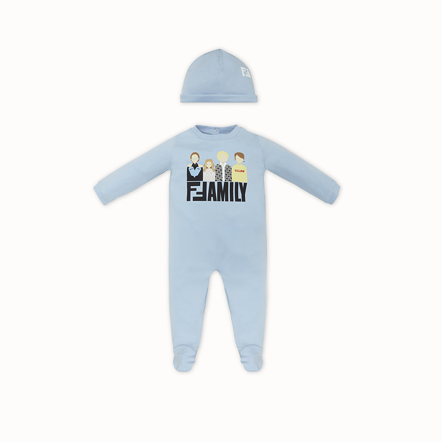 FENDI BABY KIT - Light blue jersey baby kit - view 1 detail