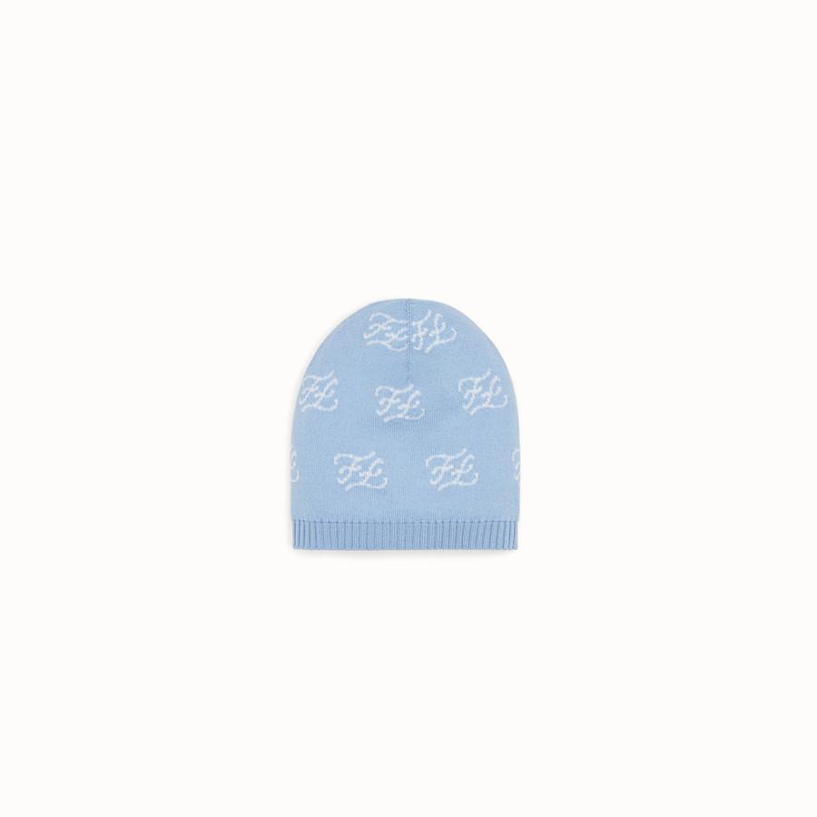 FENDI CAPPELLINO IN MAGLIA - Cappellino in maglia con intarsio - vista 1 dettaglio