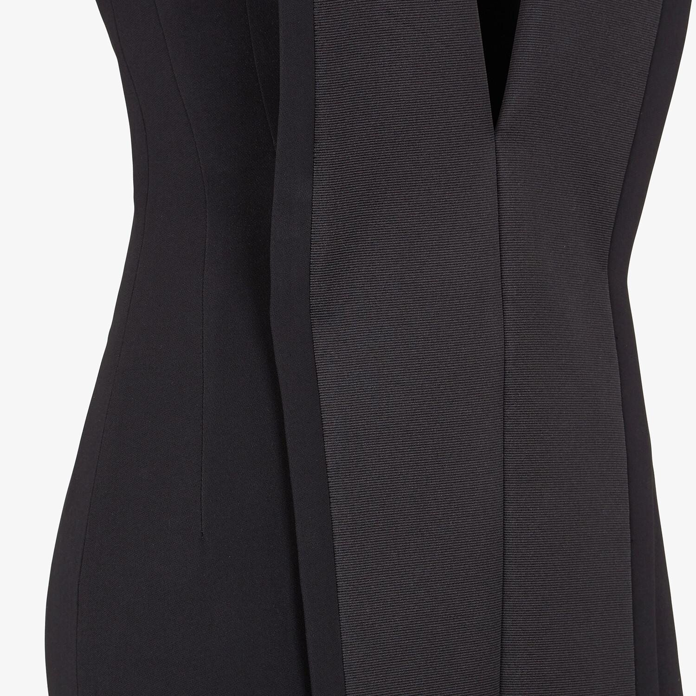 FENDI DRESS - Black cady dress - view 3 detail