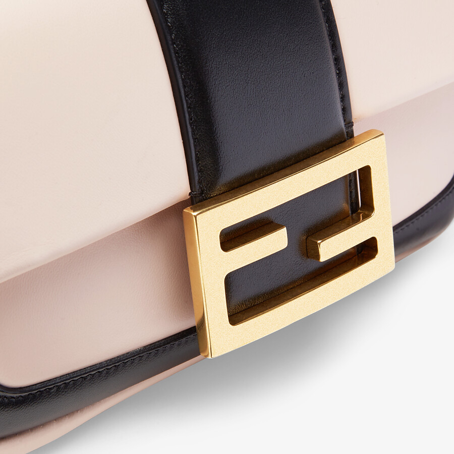 FENDI MINI BAGUETTE CHAIN - Pink and black nappa leather bag - view 5 detail
