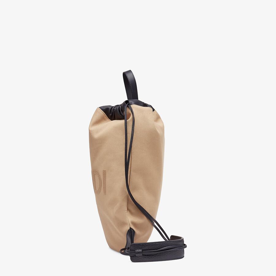 FENDI BACKPACK - Beige canvas backpack - view 2 detail