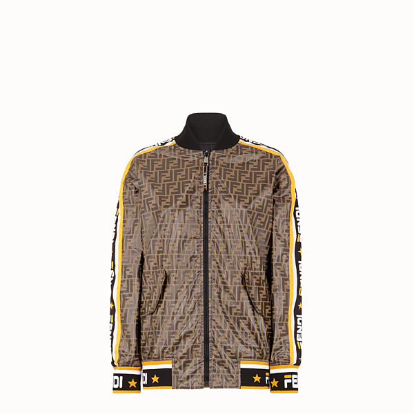FENDI JACKET - Multicolour tech fabric bomber jacket - view 1 small thumbnail
