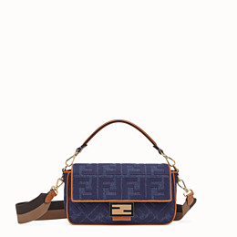 FENDI BAGUETTE - Blue denim bag - view 1 thumbnail