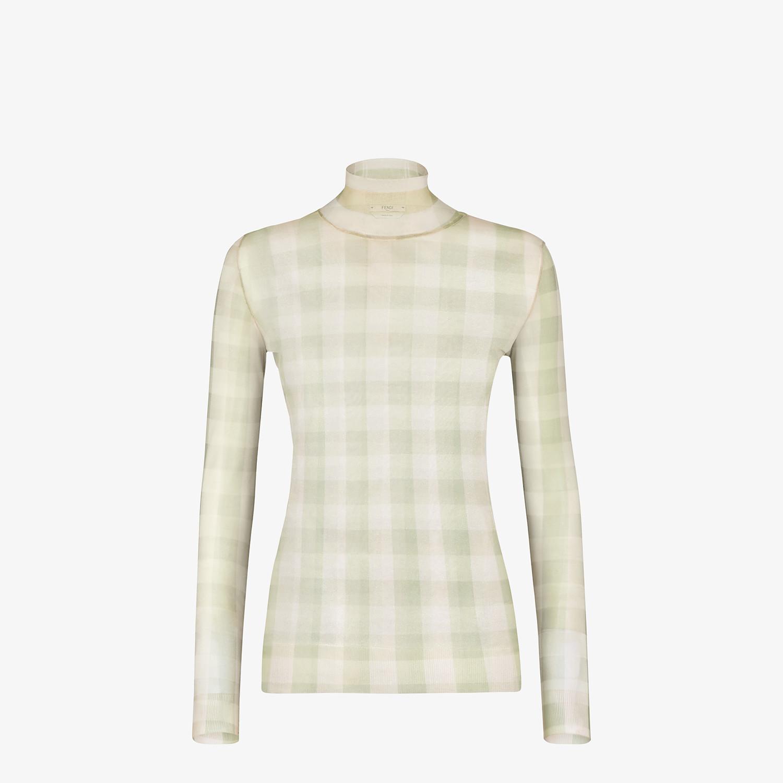 FENDI SWEATER - Check nylon sweater - view 1 detail