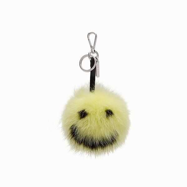 FENDI Smiley® Charm - 黃色和黑色皮草 - view 1 小型縮圖