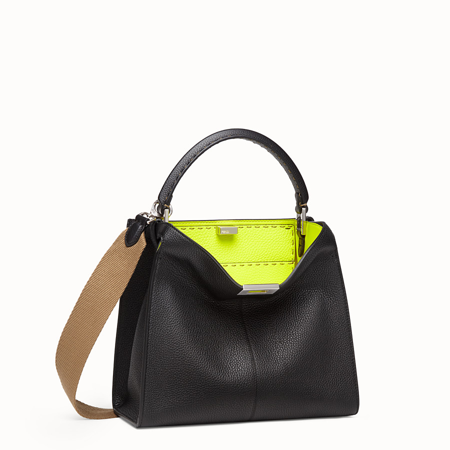 FENDI PEEKABOO X-LITE MEDIUM - Sac Fendi Roma Amor en cuir - view 3 detail