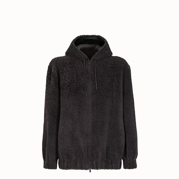FENDI JACKET - Grey sheepskin jacket - view 1 small thumbnail