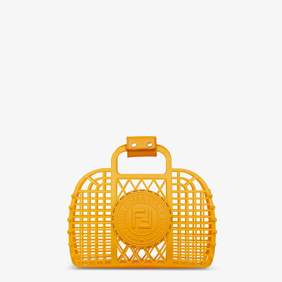 FENDI FENDI BASKET SMALL - Orange recycled plastic mini-bag - view 1 detail