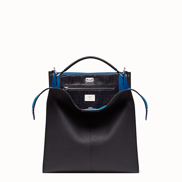 FENDI PEEKABOO X-LITE FIT - Black, calf leather bag - view 1 small thumbnail