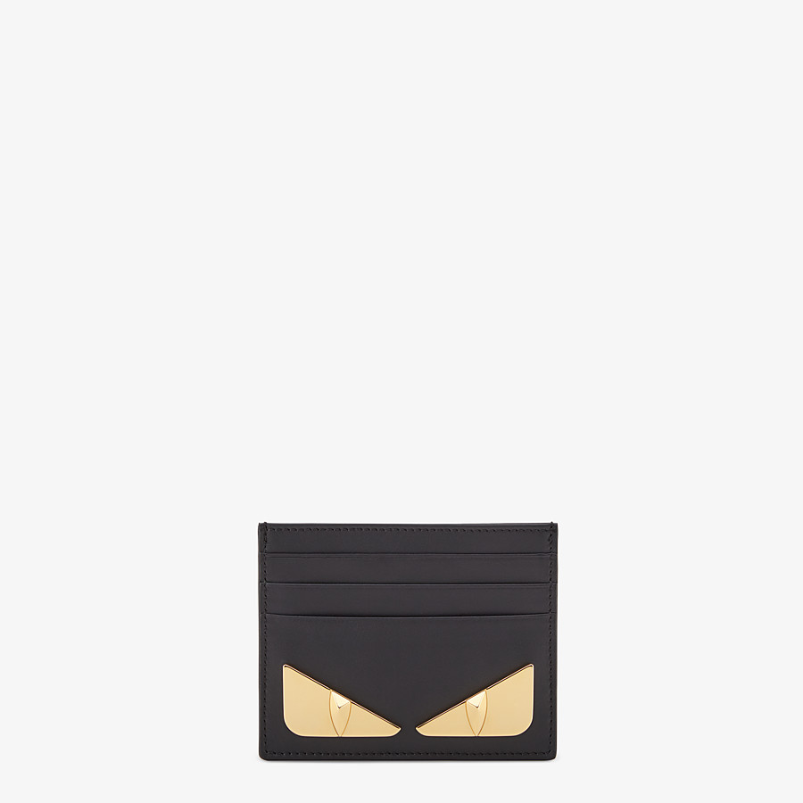 FENDI CARD HOLDER - Black leather card holder - view 1 detail