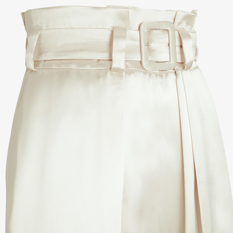 FENDI PANTS - White satin pants - view 3 detail