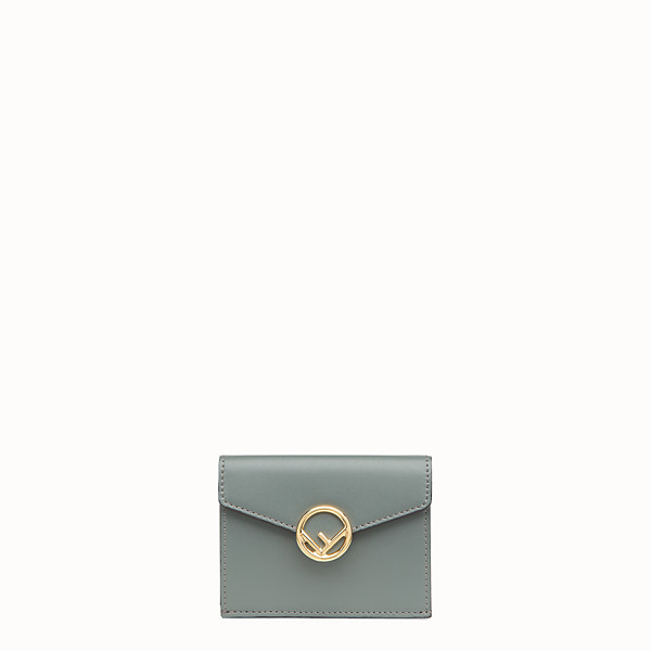 FENDI MICRO TRIFOLD - Green leather wallet - view 1 small thumbnail