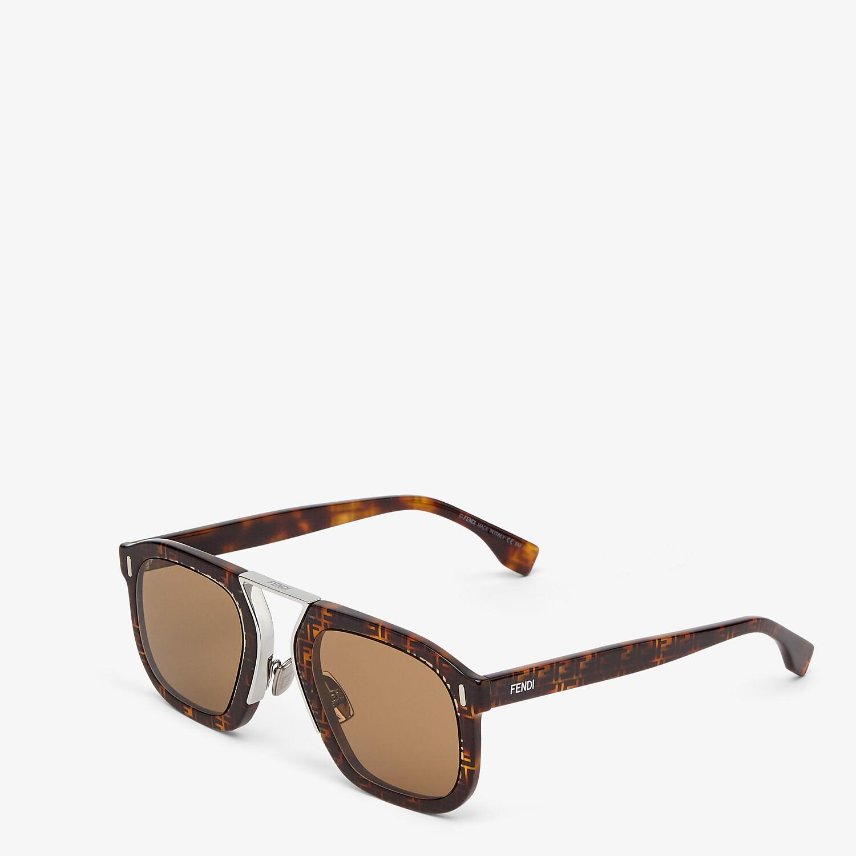 FENDI FENDI FORCE - Havana FF sunglasses - view 2 detail