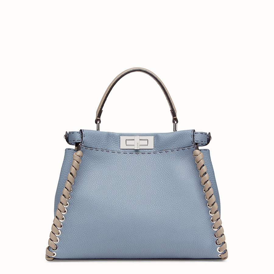 FENDI PEEKABOO ICONIC MEDIUM - Pale blue leather bag - view 4 detail
