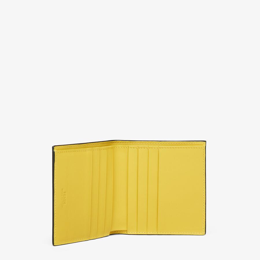 FENDI WALLET - Black leather bi-fold wallet - view 3 detail