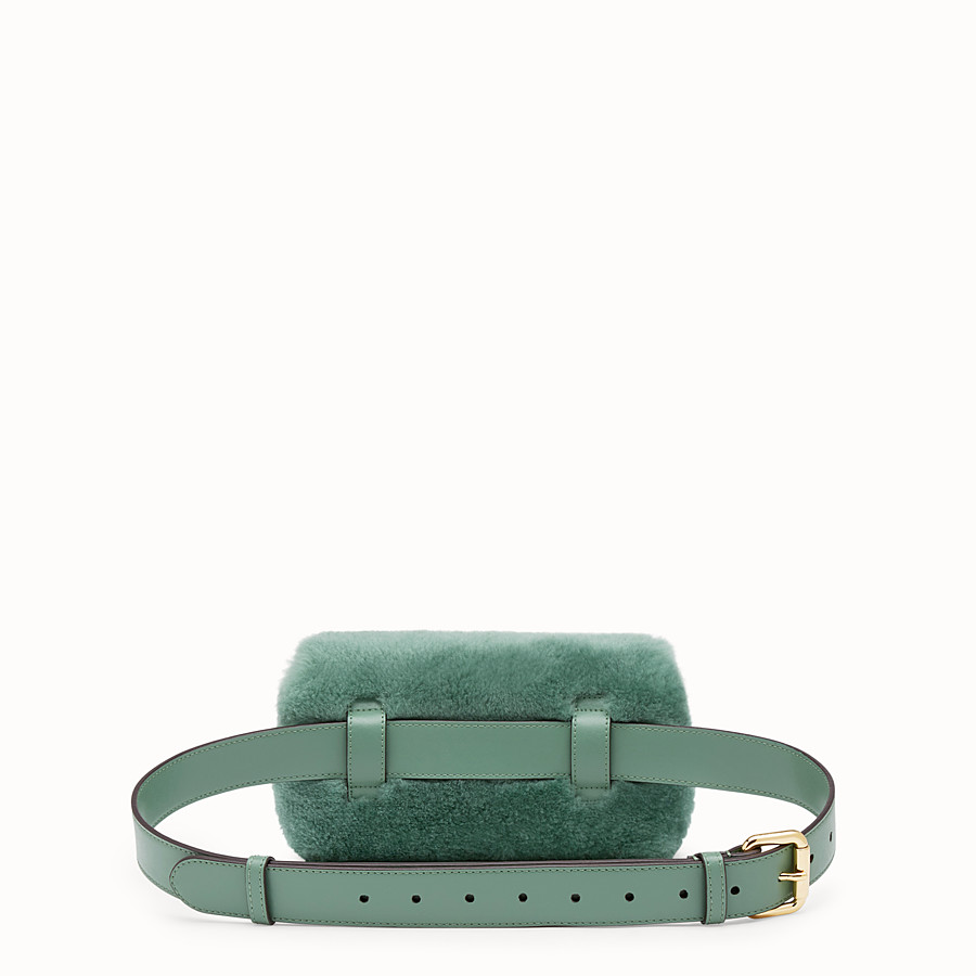 FENDI BELT BAG - Green sheepskin belt bag - view 3 detail