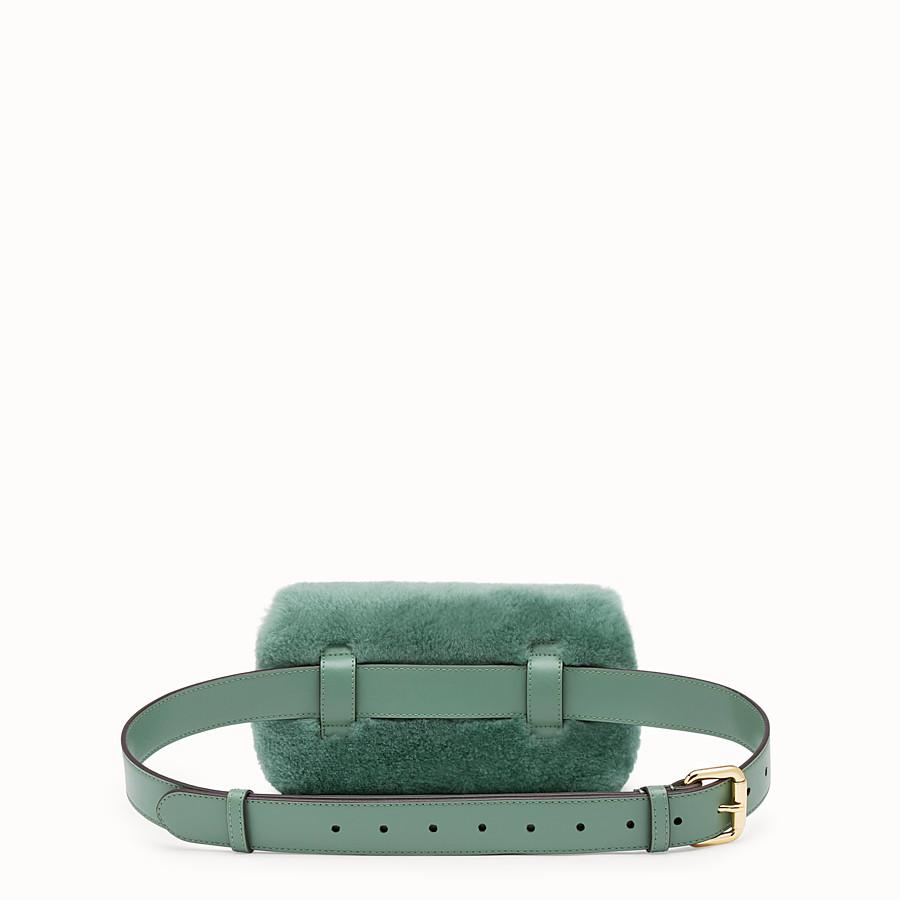 FENDI BELT BAG - Green sheepskin belt bag - view 3 detail