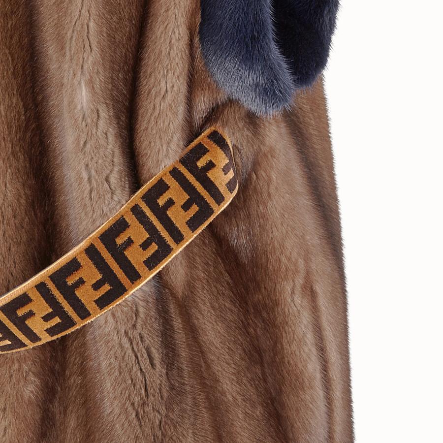 FENDI GILET - Multicolour fur gilet - view 3 detail