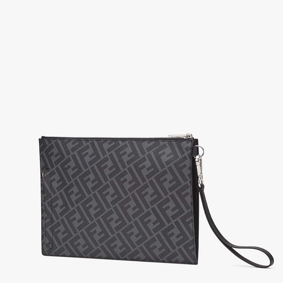 FENDI FLAT POUCH - Grey fabric bag - view 2 detail