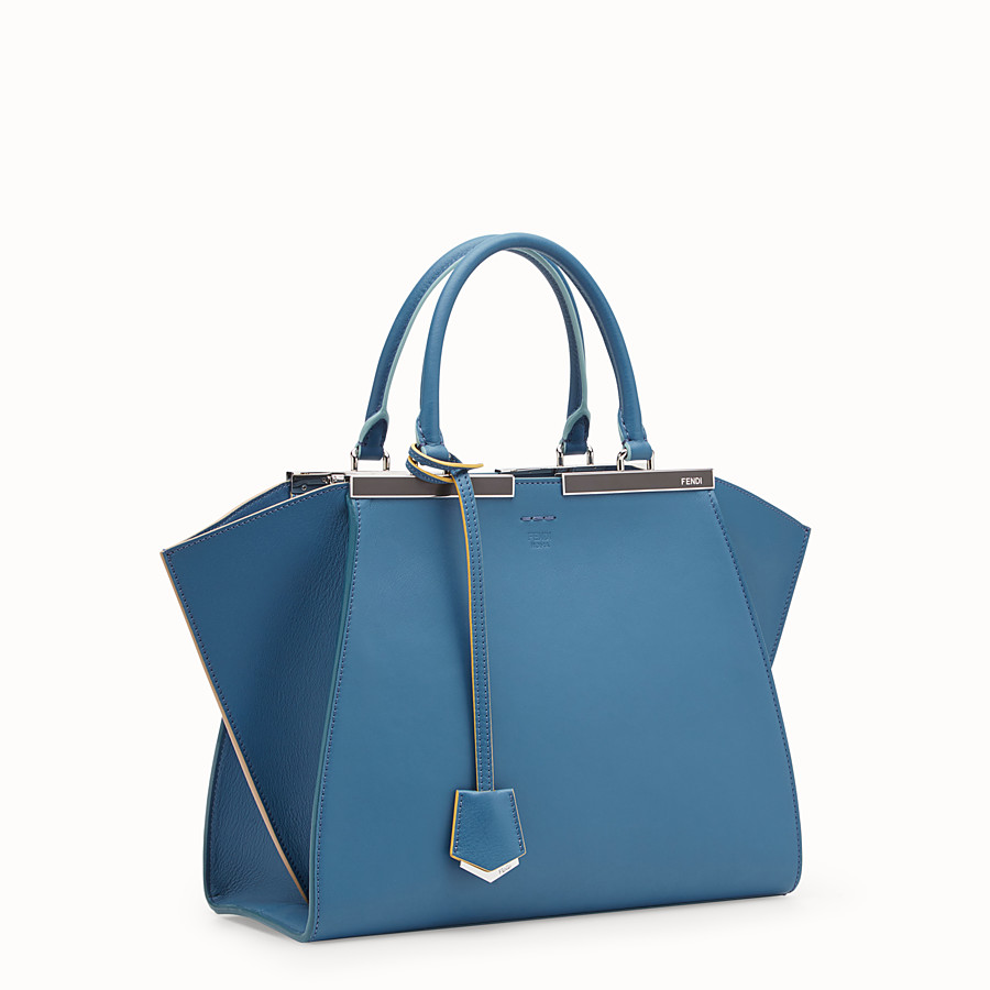 FENDI 3JOURS - Blue leather bag - view 2 detail