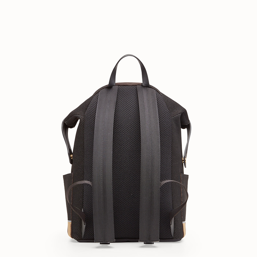 FENDI BACKPACK - Multicolor tech knit backpack - view 3 detail