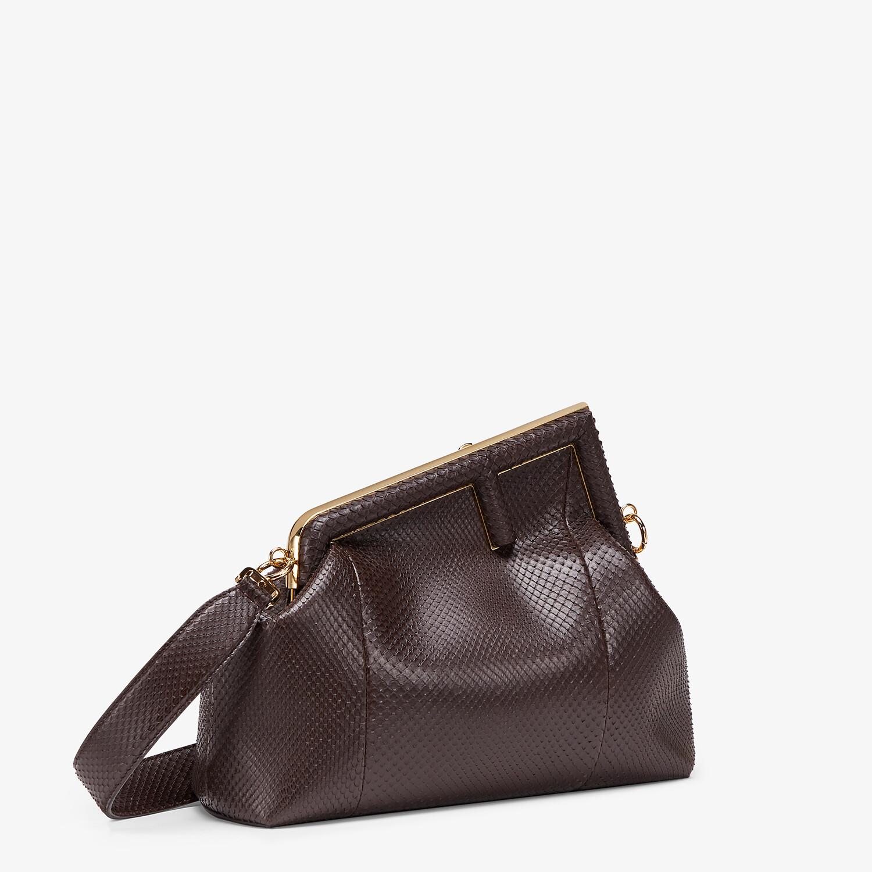 FENDI FENDI FIRST MEDIUM - Dark brown python leather bag - view 2 detail