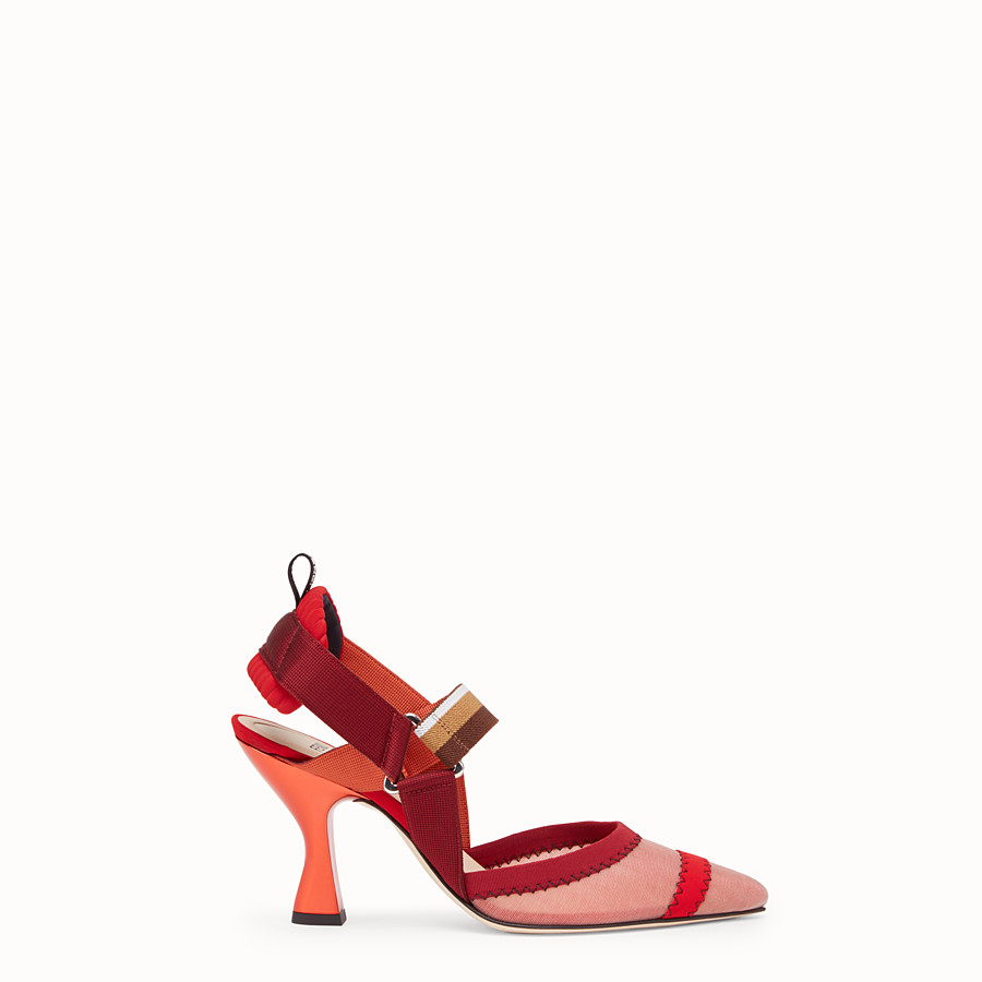 FENDI COURT SHOES - Colibrì in red mesh - view 1 detail