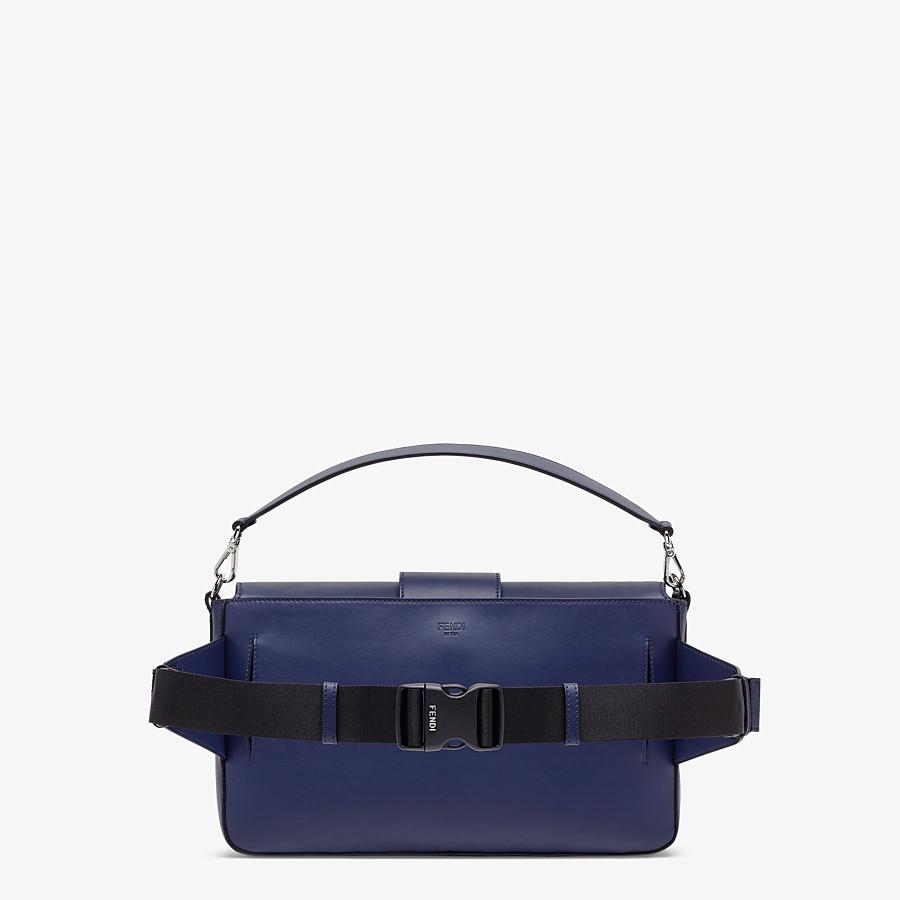 FENDI BAGUETTE LARGE - Blue calf leather bag - view 3 detail