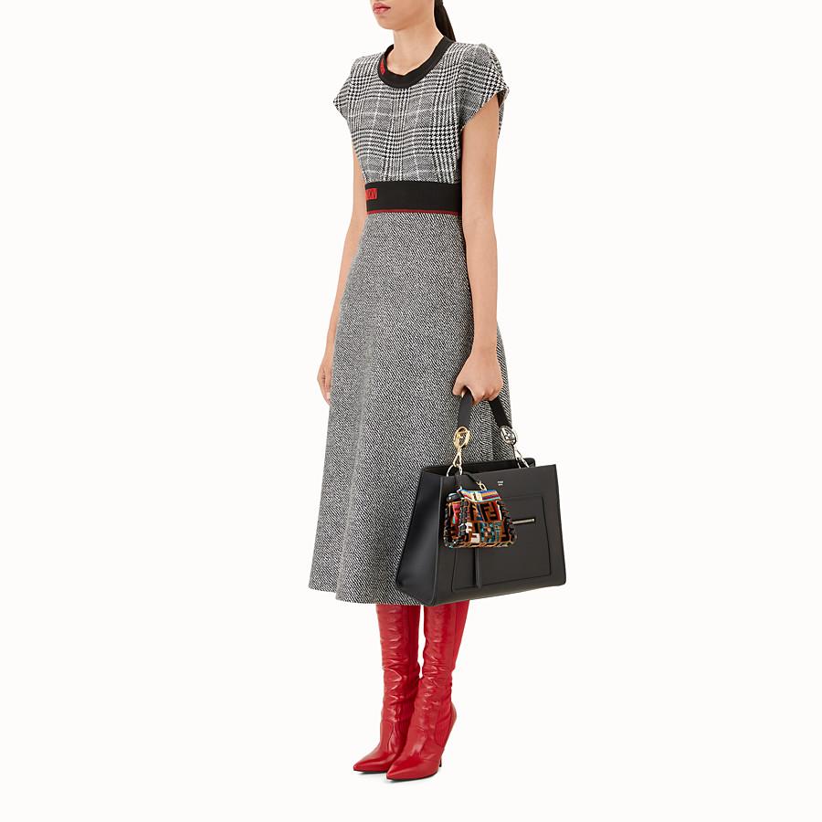 FENDI MICRO PEEKABOO - Multicolour leather and silk micro-bag - view 4 detail