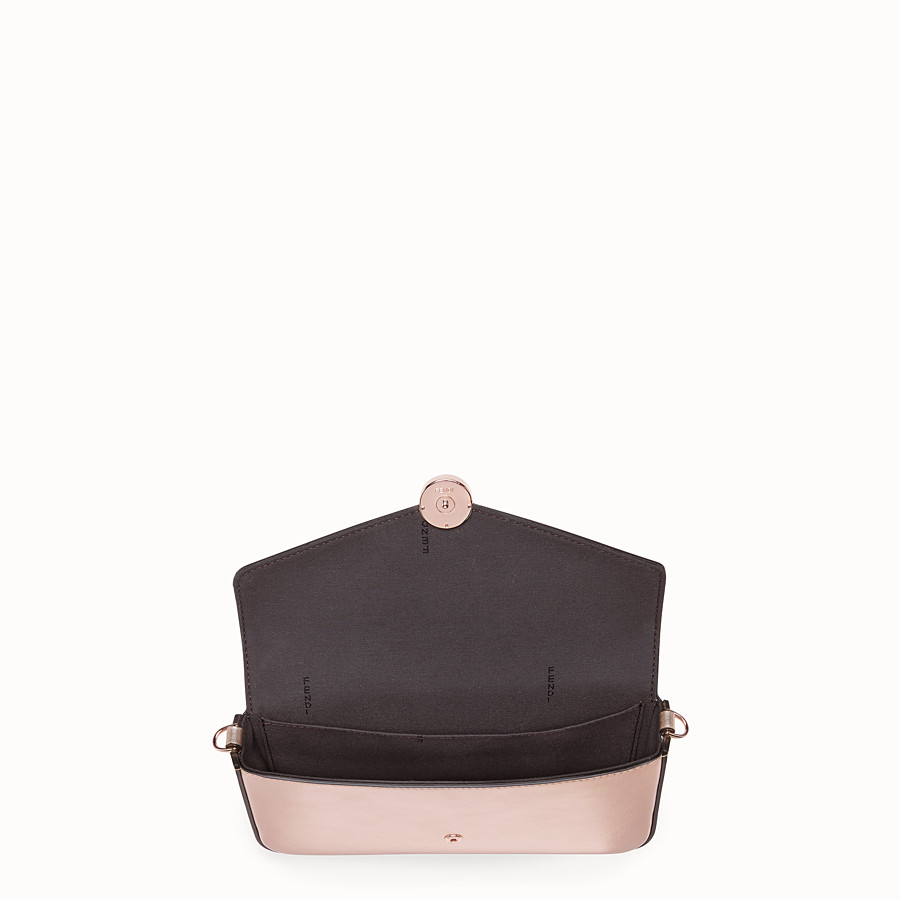 FENDI WALLET ON CHAIN WITH POUCHES - Pink leather mini-bag - view 5 detail