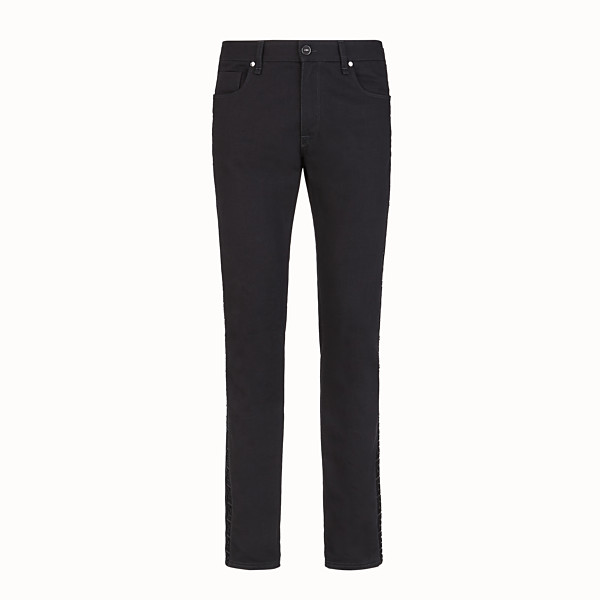 FENDI DENIM - Black denim jeans - view 1 small thumbnail