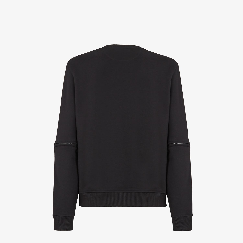 FENDI SWEATSHIRT - Black jersey sweatshirt - view 3 detail