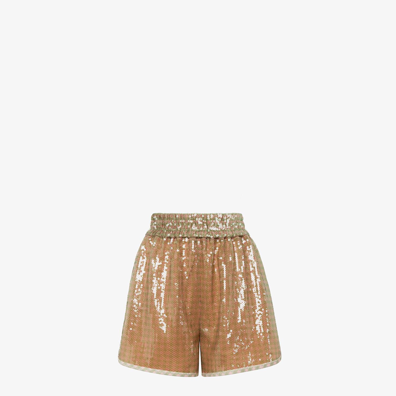 FENDI SHORTS - Check sequin shorts - view 1 detail