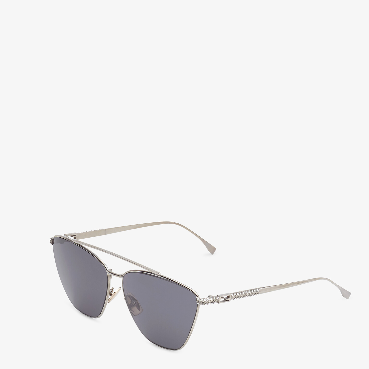 FENDI BAGUETTE - Ruthenium-colored sunglasses - view 2 detail