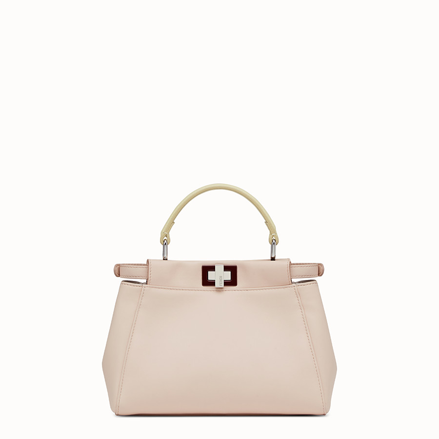 FENDI PEEKABOO MINI - handbag in pink nappa - view 3 detail