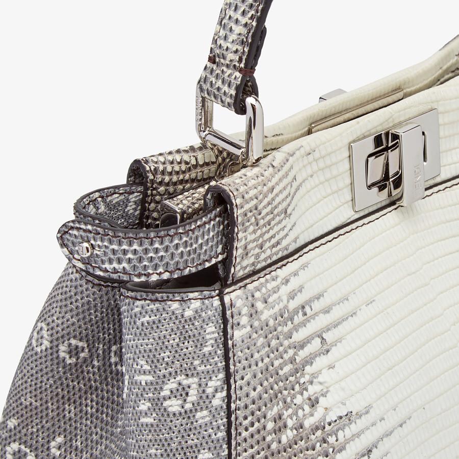 FENDI PEEKABOO ICONIC MINI - Gray gradient lizard leather bag - view 6 detail