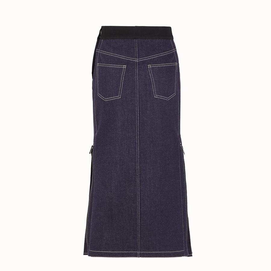 FENDI SKIRT - Blue denim skirt - view 2 detail