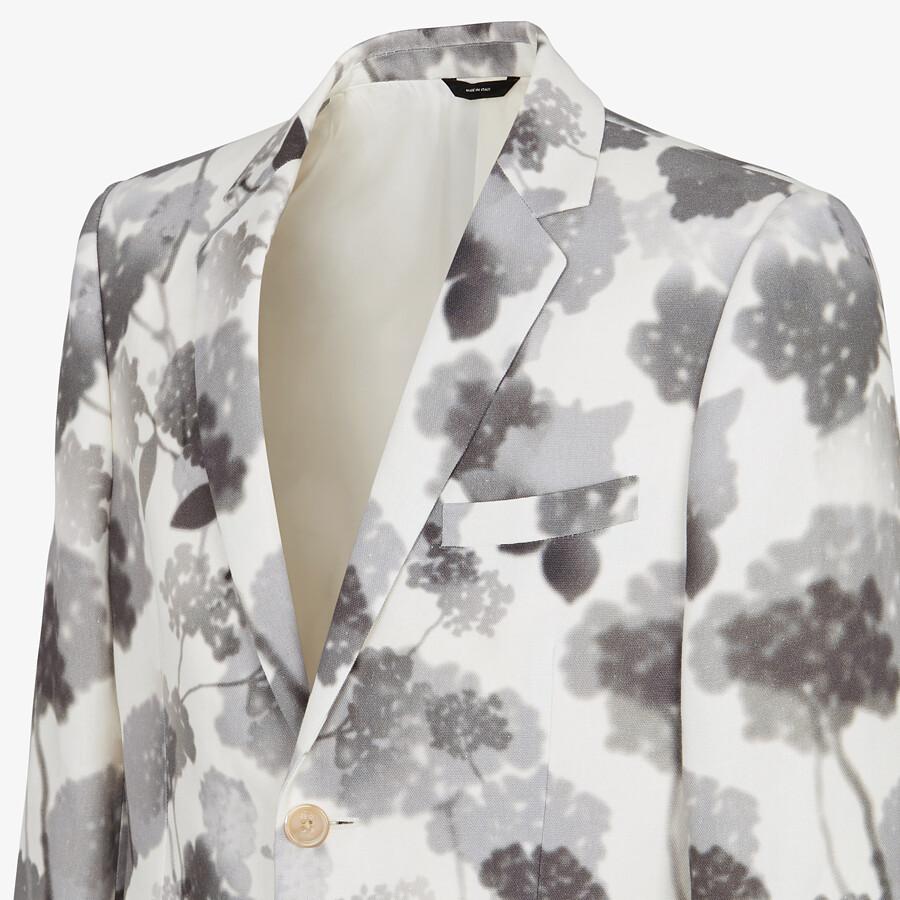 FENDI JACKET - White canvas blazer - view 4 detail