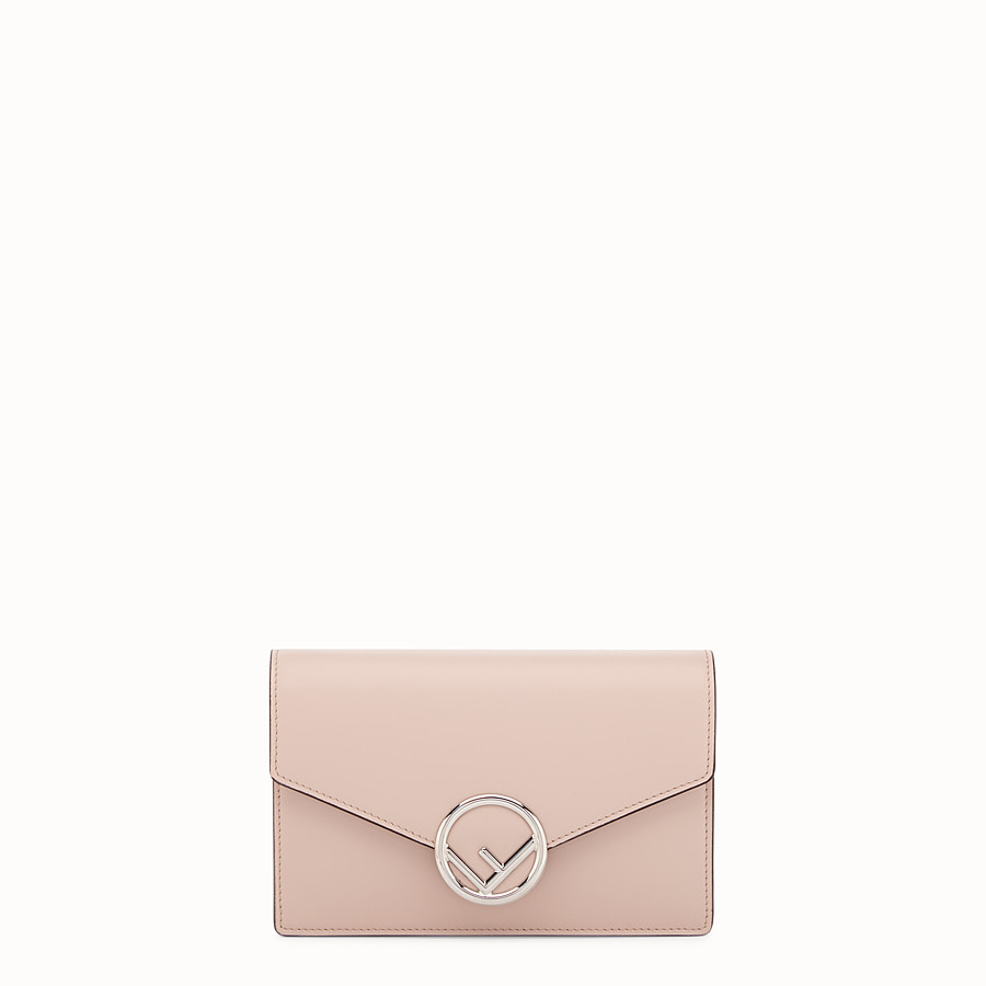 77272028f361 Pink leather mini-bag - WALLET ON CHAIN