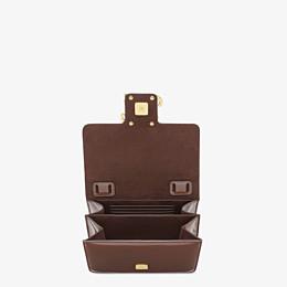 FENDI KARLIGRAPHY - Brown patent leather bag - view 5 thumbnail
