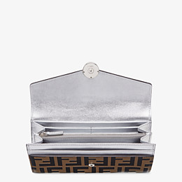 FENDI CONTINENTAL - Silver leather wallet - view 3 thumbnail
