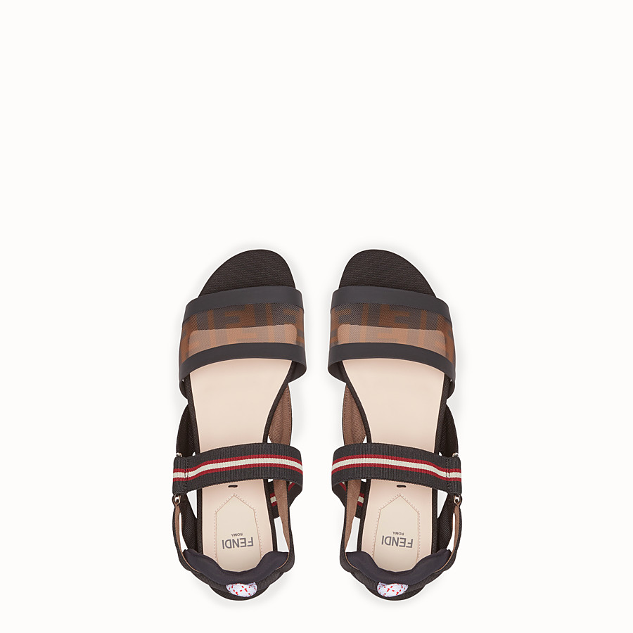 FENDI SANDALS - Multicolour technical mesh flats - view 4 detail